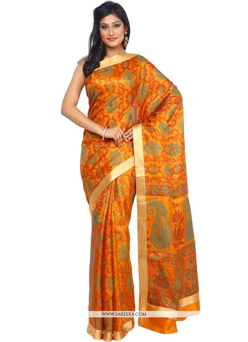 ce2bfb74e7 Shop Orange Classic Designer Saree Online : 50890 -