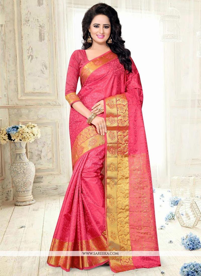 Art Silk Weaving Work Traditional Designer Saree