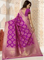 Rani Weaving Work Kanchipuram silk Traditional Designer Saree