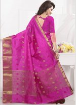 Rani woven Work Banarasi Silk Designer Traditional Saree