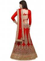 Red Resham Work Lehenga Choli
