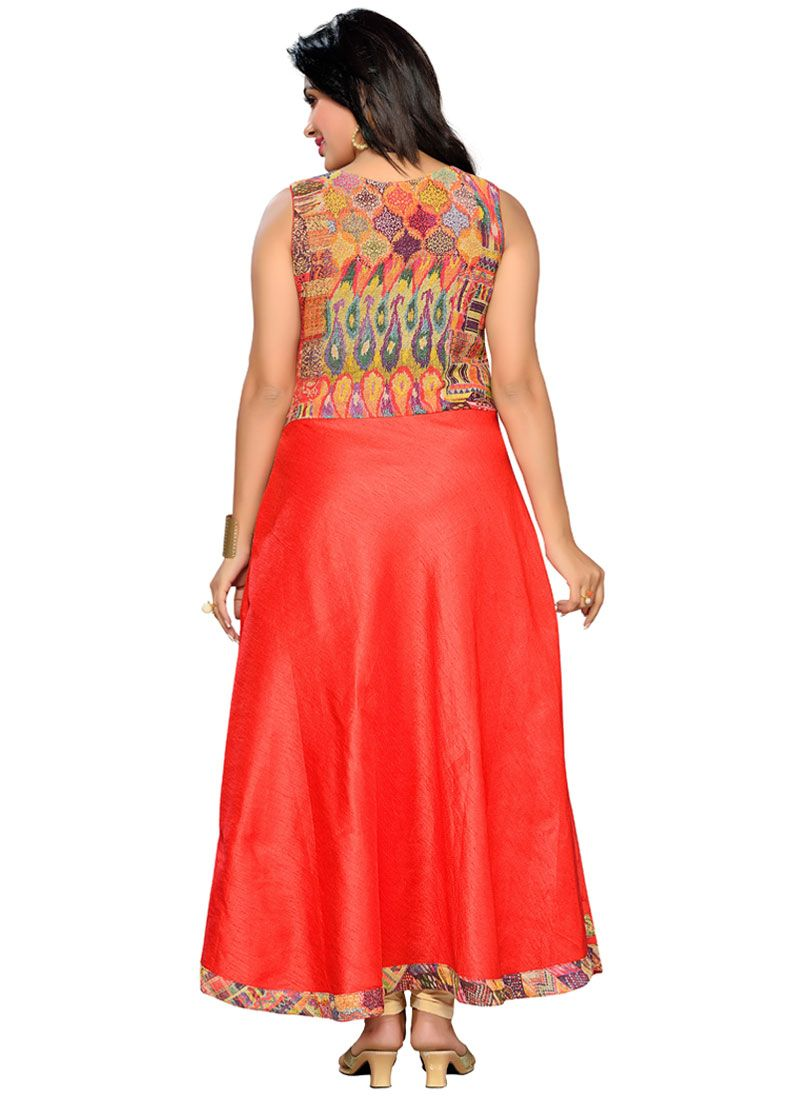 c5d2f1dfa Buy Jute Silk Party Wear Kurti Online at best price -