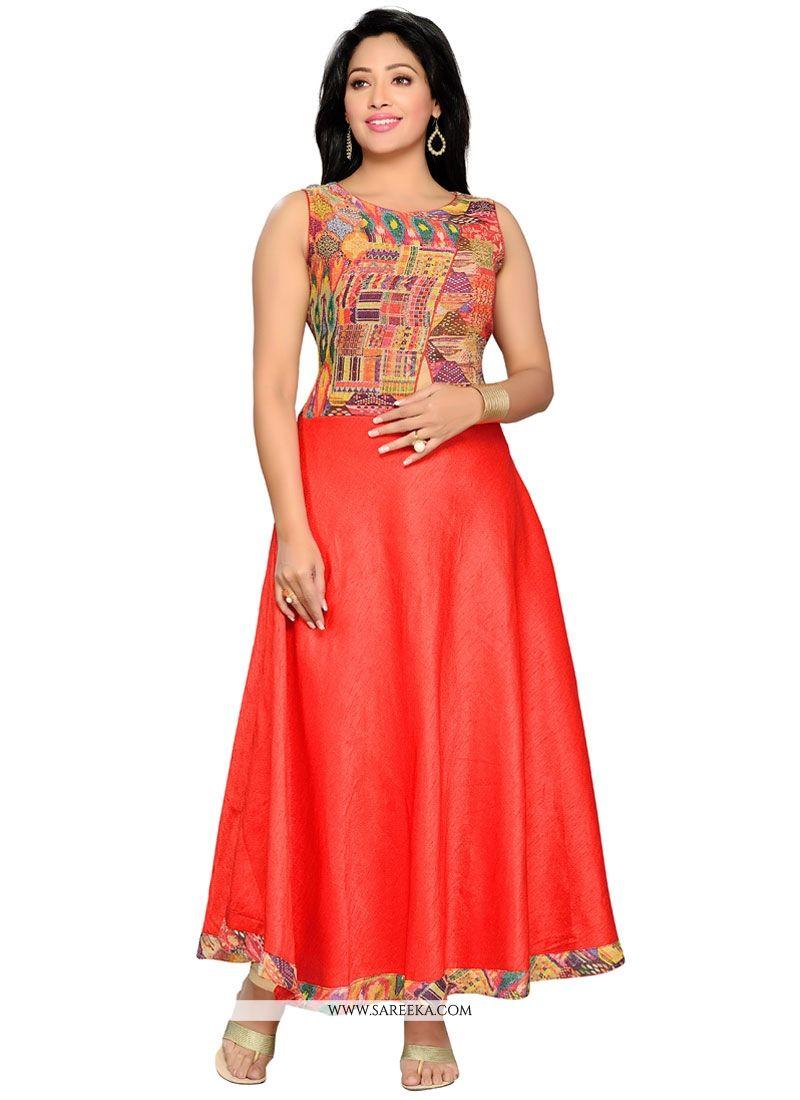 c9373a0e15d Buy Jute Silk Party Wear Kurti Online at best price -