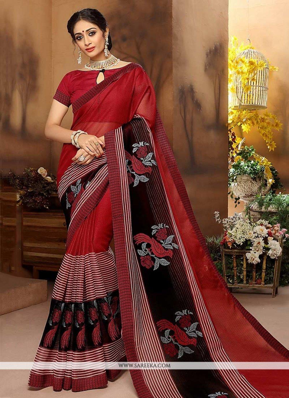 Resham Work Cotton Silk Traditional Designer Saree