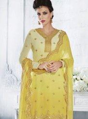 Resham Work Faux Georgette Designer Suit