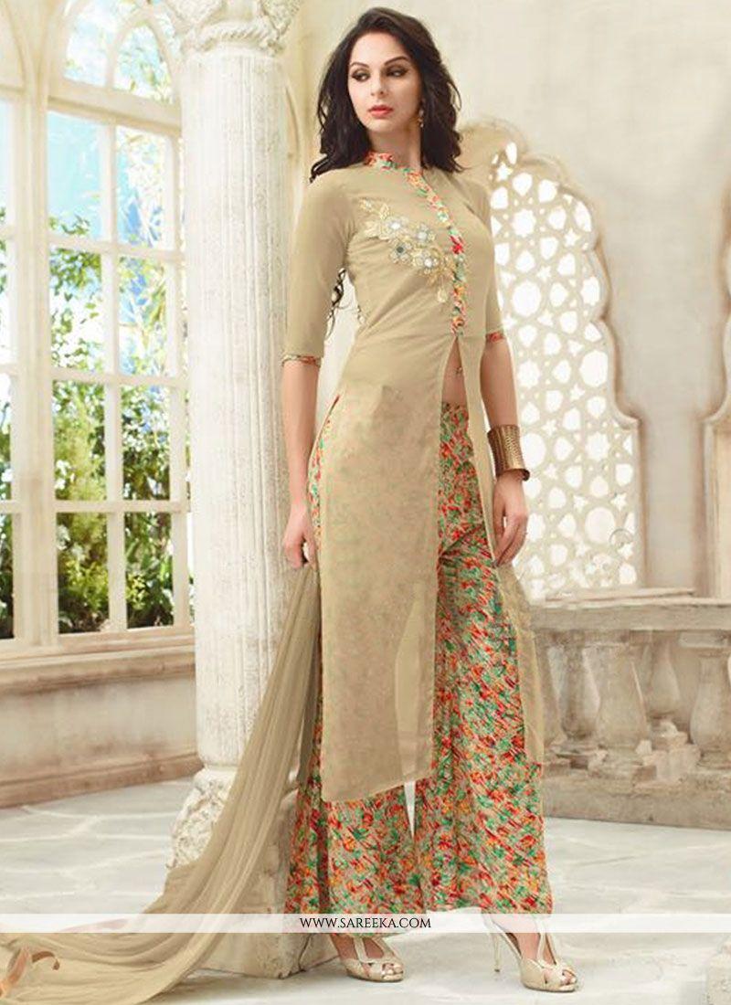 9b3e125fafc Buy Georgette Print Work Designer Palazzo Salwar Kameez Online   51273 -