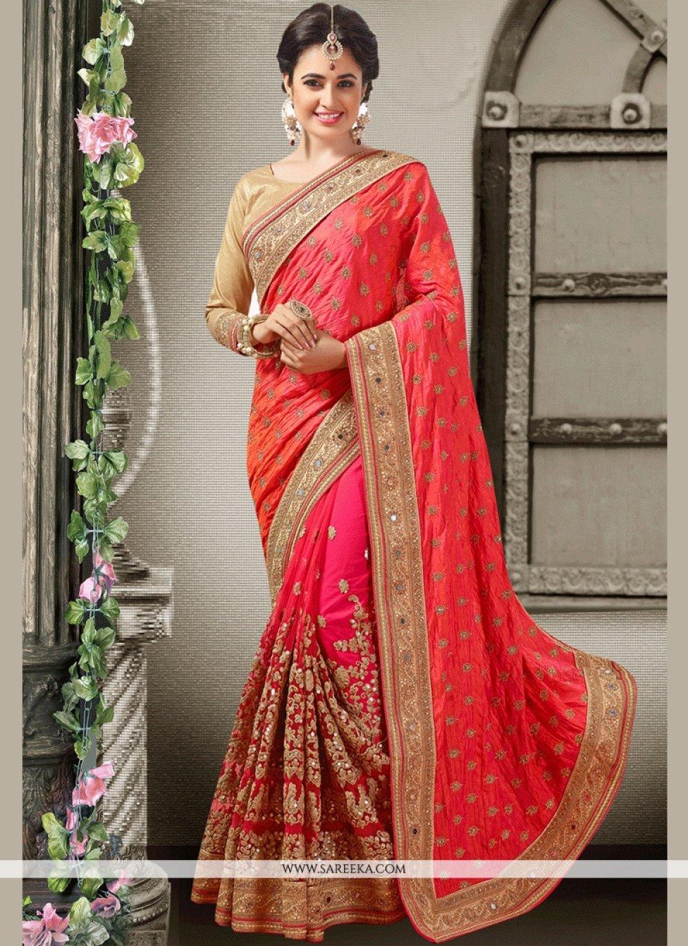 Rose Pink Designer Traditional Saree