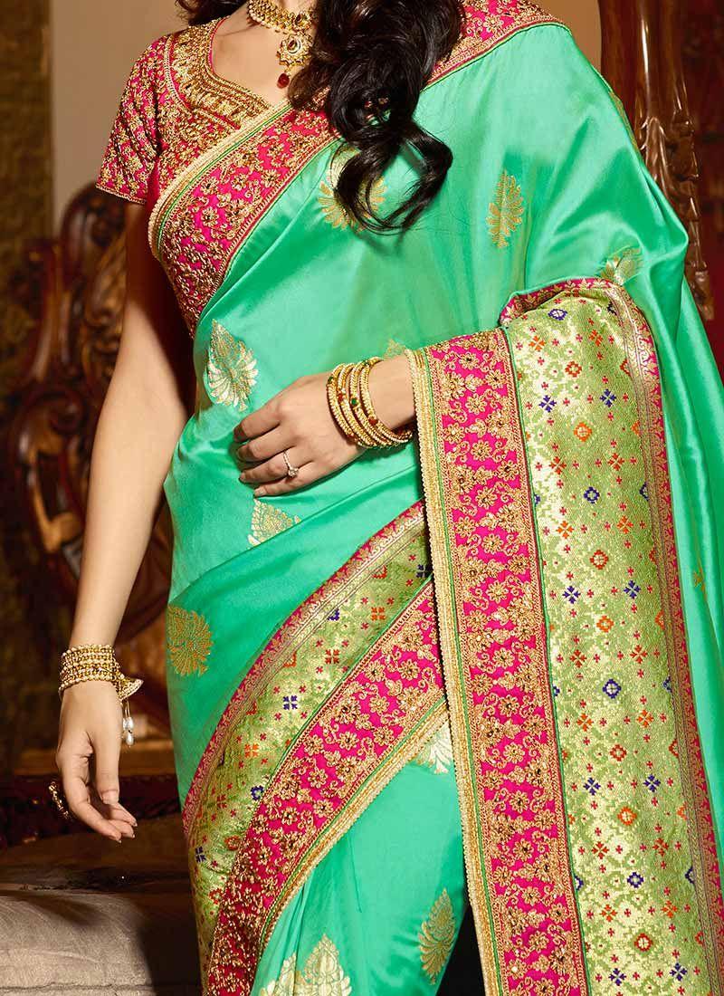 835c356f3c224 Sanaya Irani Green Designer Traditional Saree Sanaya Irani Green Designer  Traditional Saree