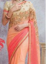 Satin Shaded Saree