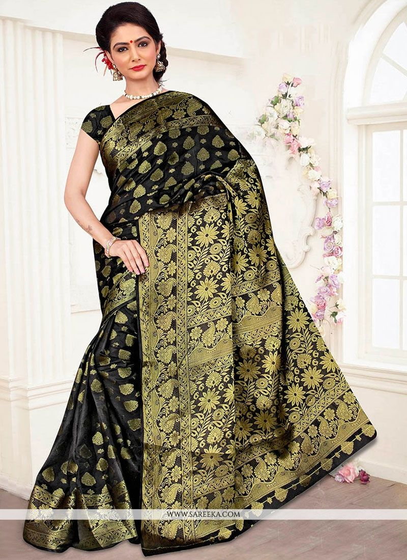 Banarasi Silk Weaving Work Designer Traditional Saree