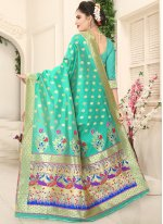 Sea Green Traditional Designer Saree