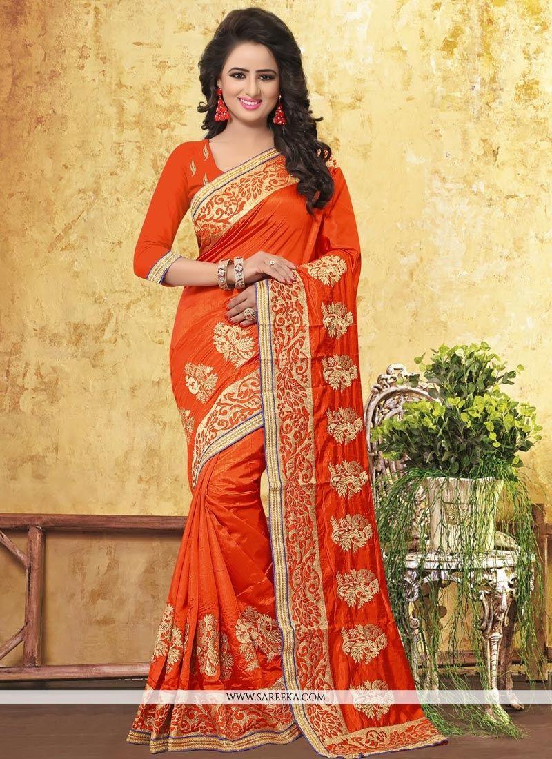 Art Silk Resham Work Traditional  Saree