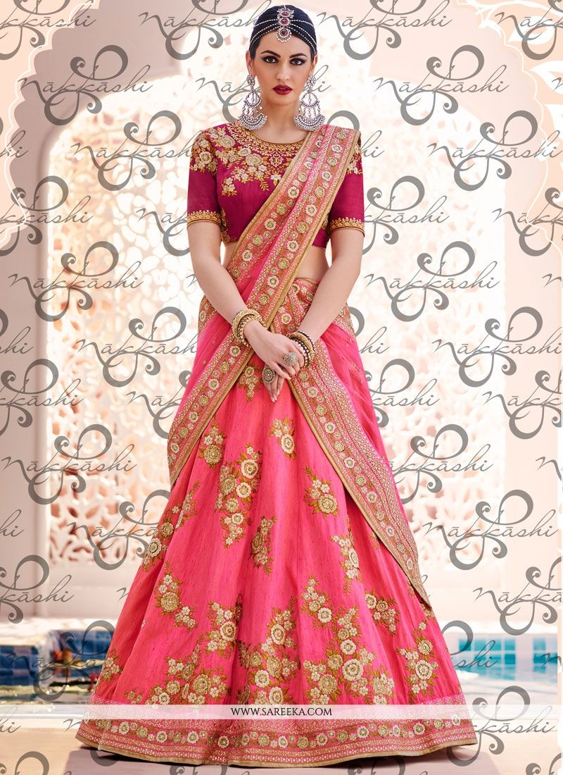Handloom silk Embroidered Work Lehenga Choli