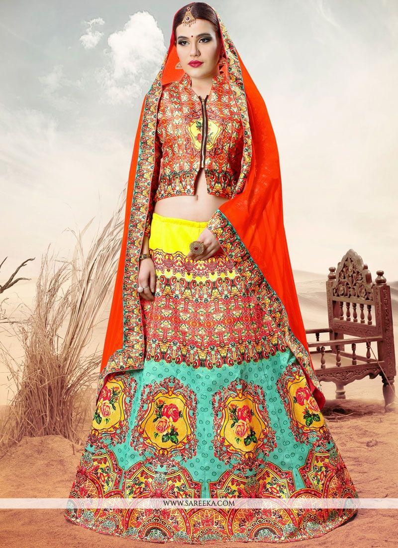 Banarasi Silk Lace Work Lehenga Choli