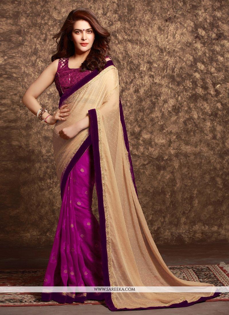 Fancy Fabric Half N Half  Saree