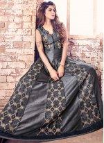 Banarasi Silk Embroidered Work Designer Floor Length Salwar Suit