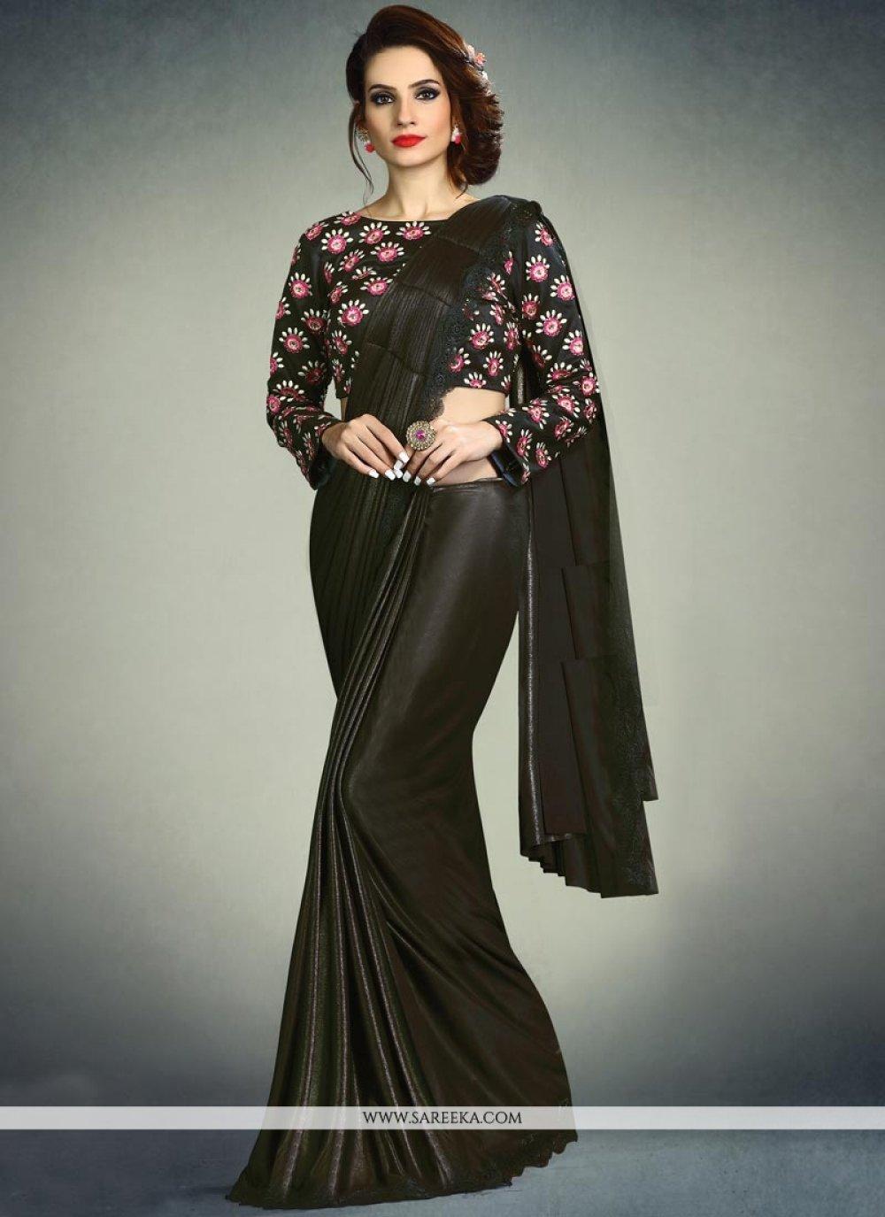 Thread Work Fancy Fabric Designer Saree