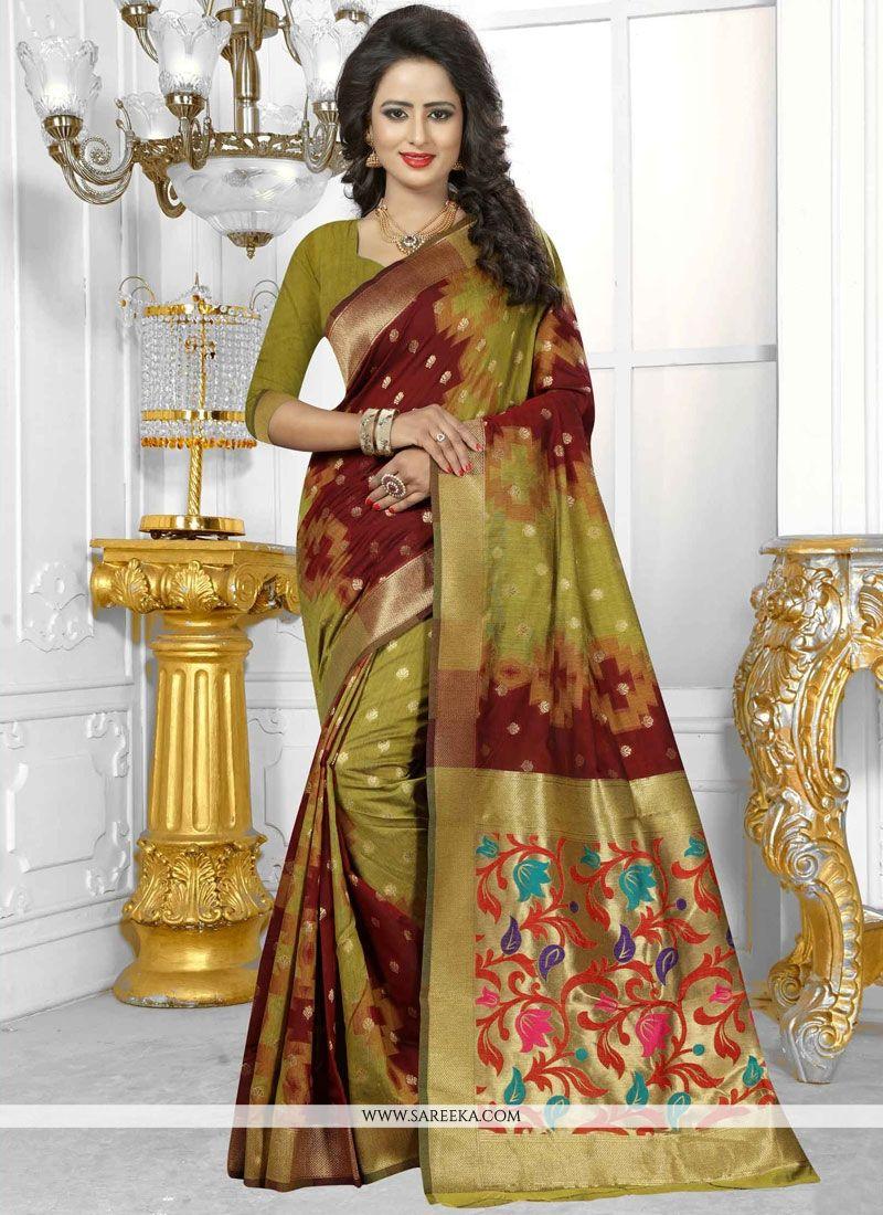 Weaving Work Banarasi Silk Traditional  Saree