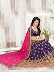 Art Silk Blue Lehenga Choli