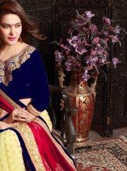Fancy Fabric Designer Half N Half Saree