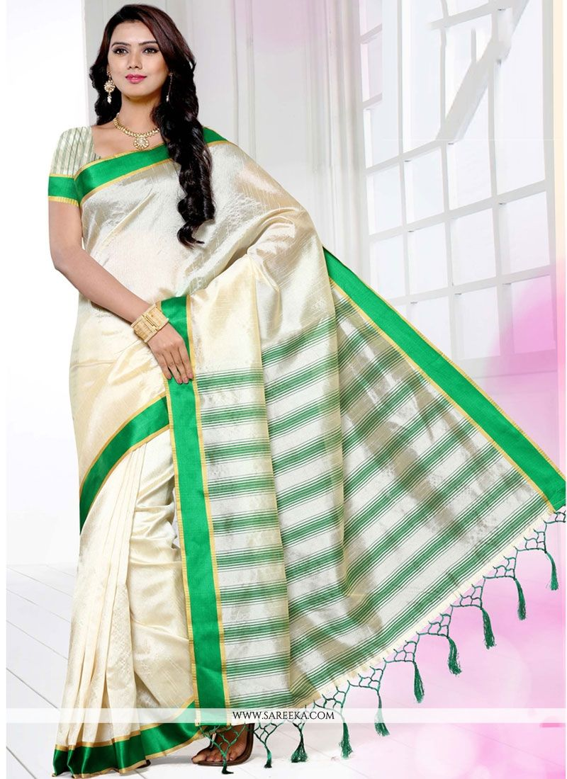 109a0382a Buy Off White Weaving Work Art Silk Traditional Saree Online   USA