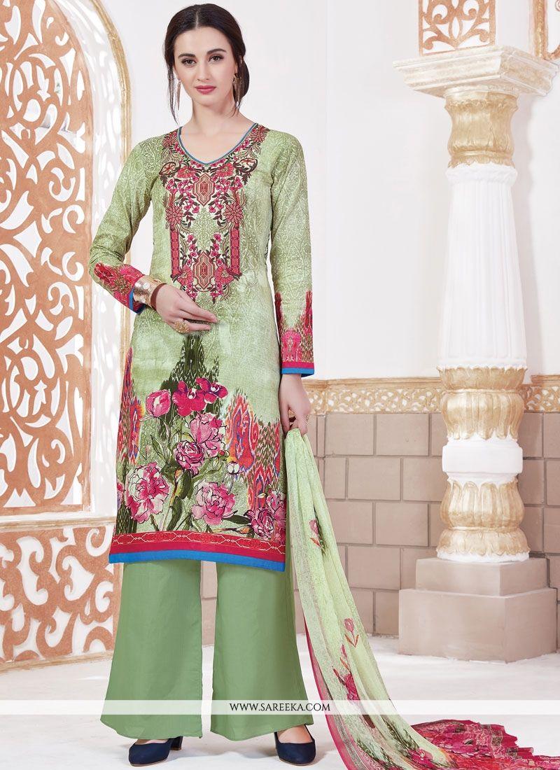 Multi Colour Print Work Designer Palazzo Suit