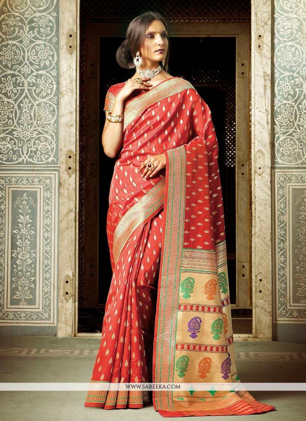 Weaving Work Traditional  Saree