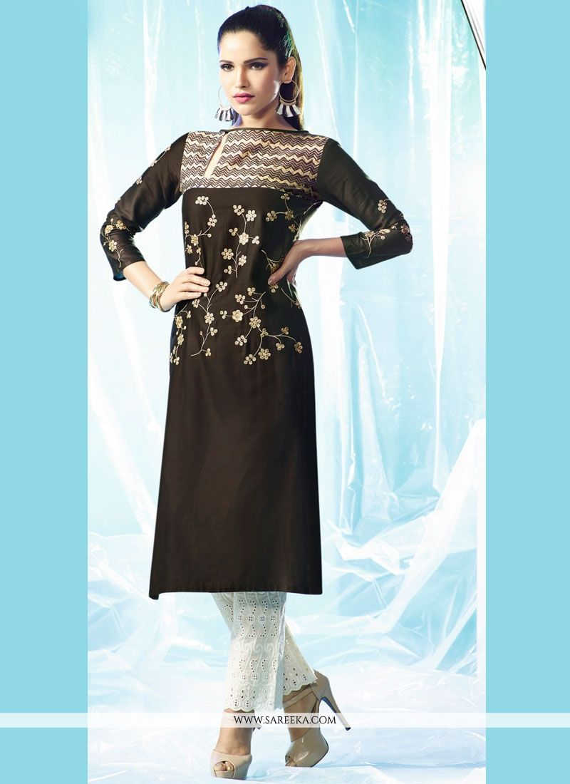 Embroidered Work Designer Kurti