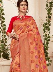 Abstract Print Banarasi Silk Classic Saree