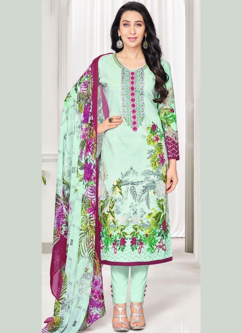 Amazing Multicolor Cotton Designer Suit