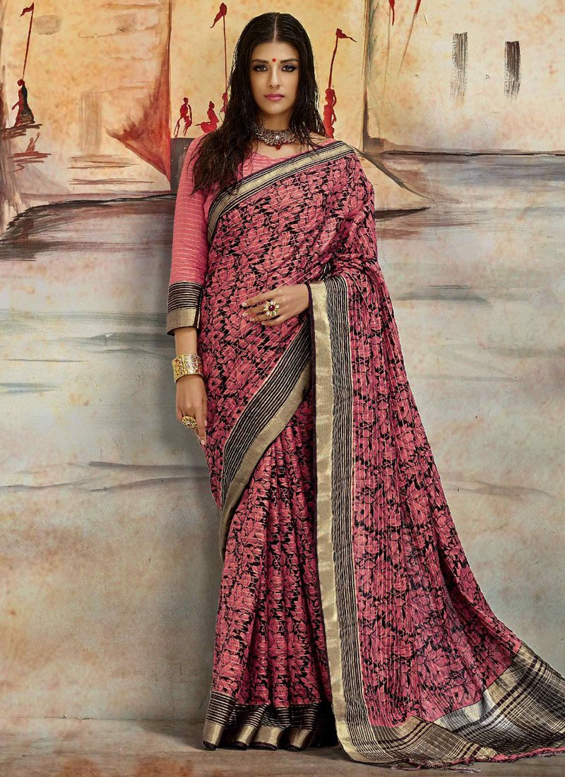 Art Raw Silk Multi Colour Printed Saree