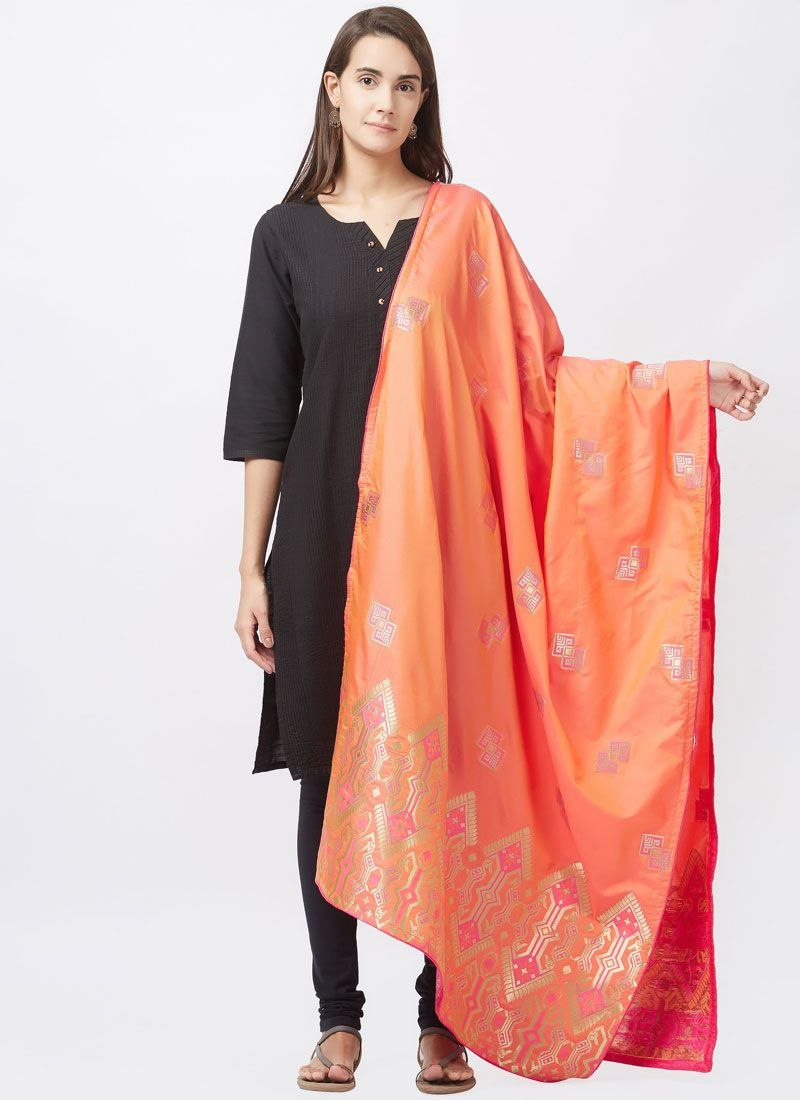 Art Silk Black Churidar Suit