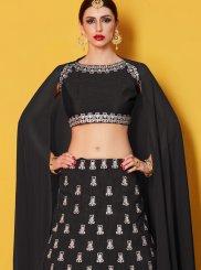 Art Silk Black Lehenga Choli