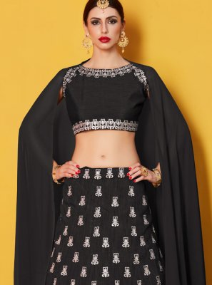 Art Silk Black Lehenga Choli