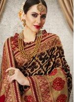 Art Silk Black Weaving Designer Traditional Saree
