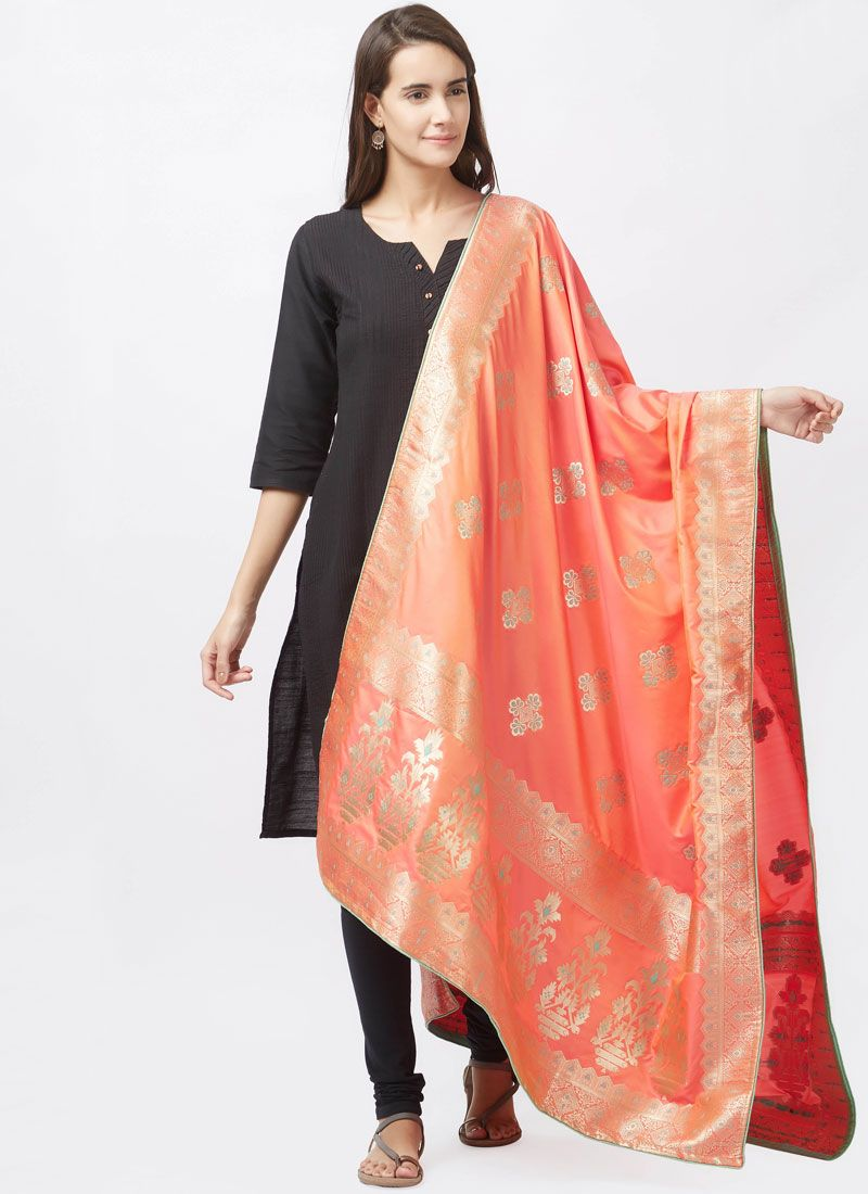 Art Silk Black woven Work Churidar Suit