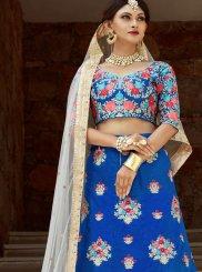 Art Silk Blue Lehenga Choli