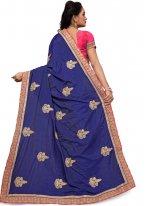 Art Silk Blue Traditional Designer Saree