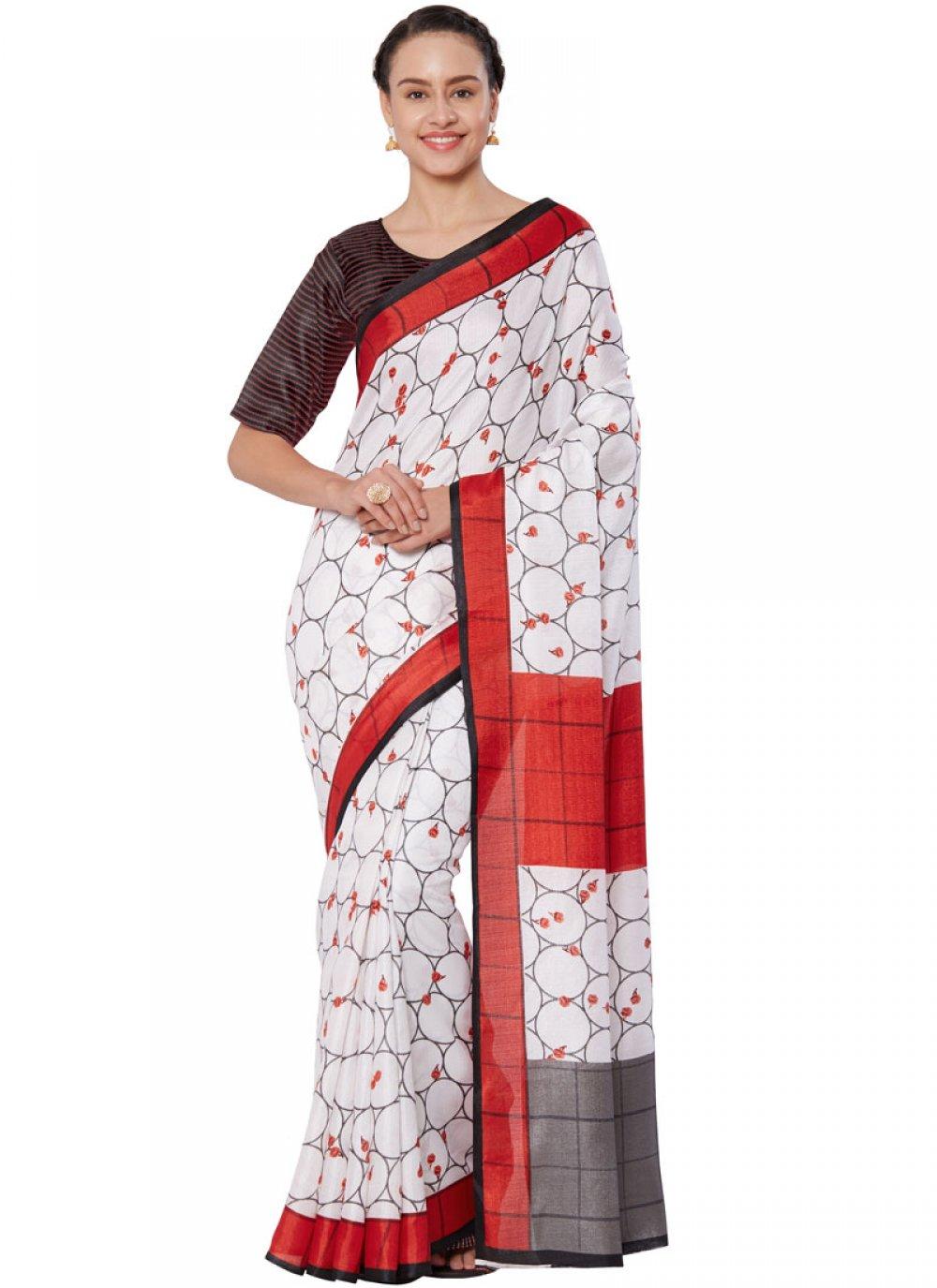 Art Silk Casual Casual Saree