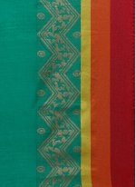 Art Silk Cotton Teal Casual Saree