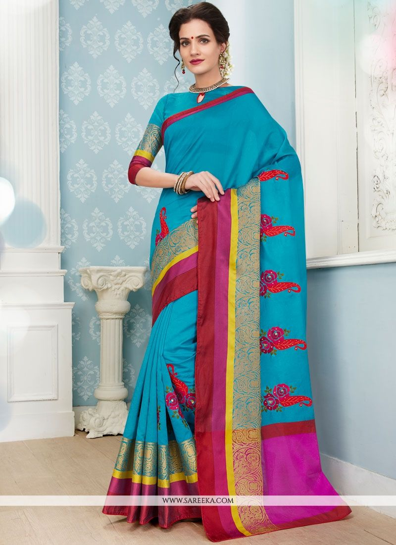 Art Silk Cotton Traditional  Saree