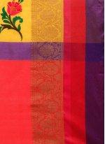 Art Silk Cotton Zari Work Casual Saree