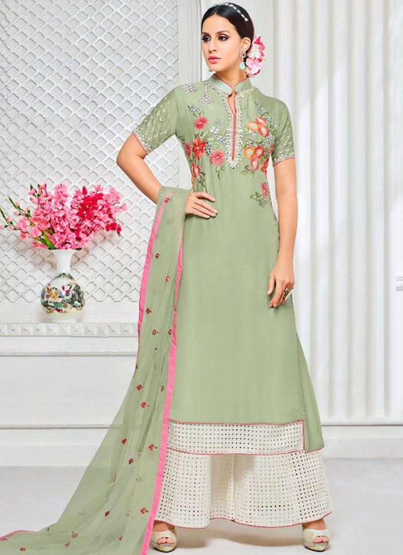 Art Silk Designer Palazzo Suit