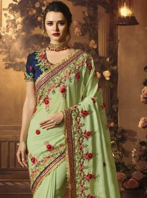 Art Silk Embroidered Designer Traditional Saree