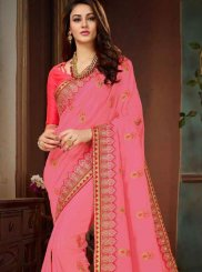 Art Silk Embroidered Traditional Designer Saree