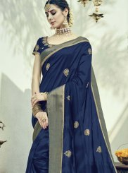 Buy Online Art Silk Embroidered Work Designer Traditional Saree
