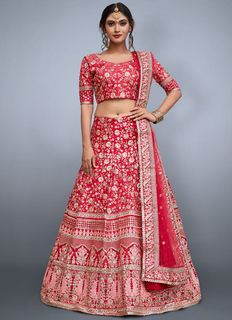 Art Silk Embroidered Work Lehenga Choli