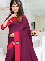 Art Silk Fancy Purple Traditional  Saree