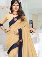 Art Silk Fancy Traditional  Saree in Beige