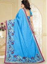 Art Silk Firozi Designer Traditional Saree